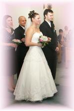 Nevěsa a ženich se svědky (Radi a Rosťa)