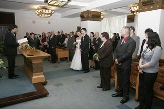 Obřadní síň na Nové radnici v Ostravě