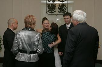 Gratulace svatebčanů 1