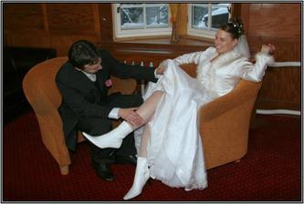 Novomanžel a novomanželka