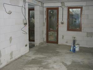 Zabetónované podlahy - november 2009