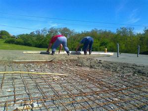 Vyrovnávanie betónu
