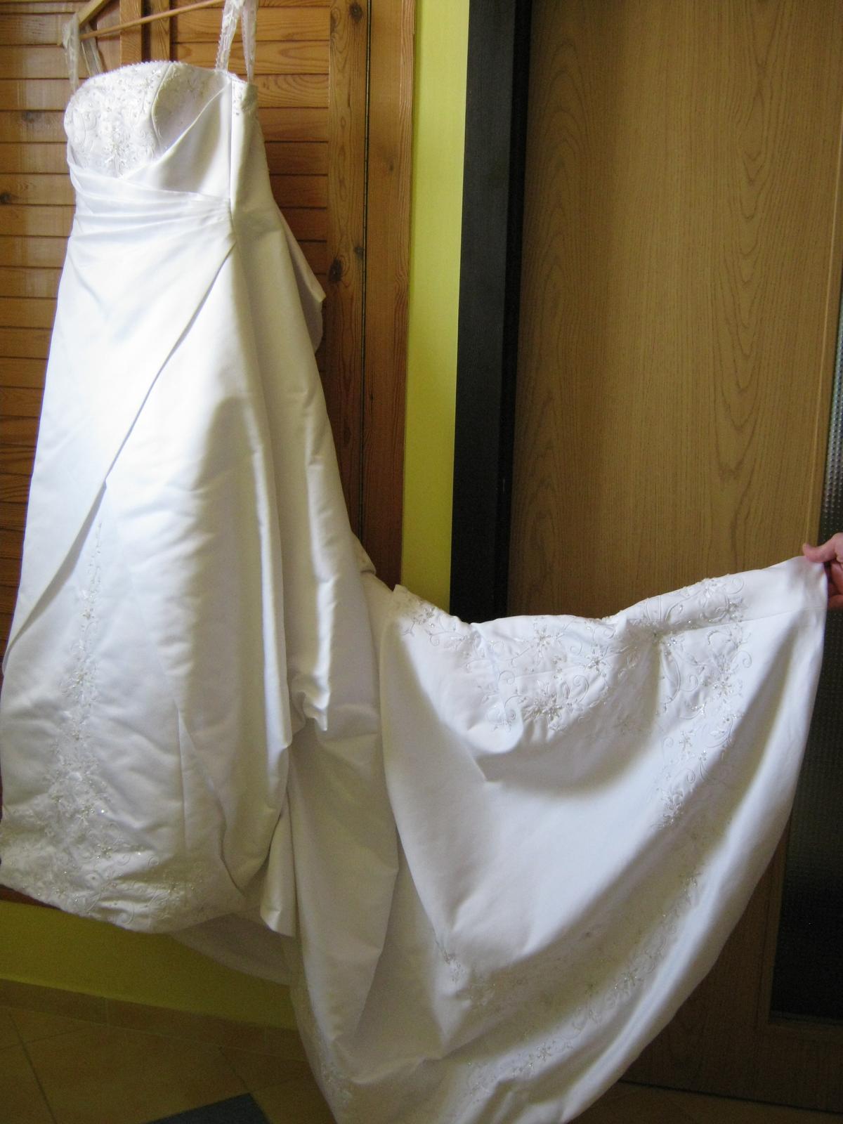 Korzetové svadobné šaty v.38-42 (na výšku 165cm) - Obrázok č. 3