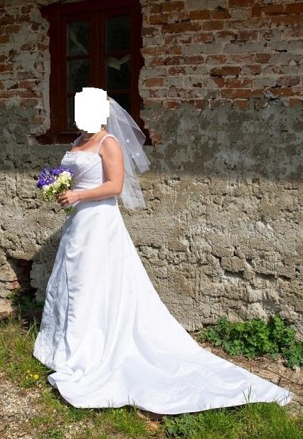 Korzetové svadobné šaty v.38-42 (na výšku 165cm) - Obrázok č. 1