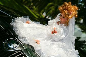 Panenka na auto nevěsty.