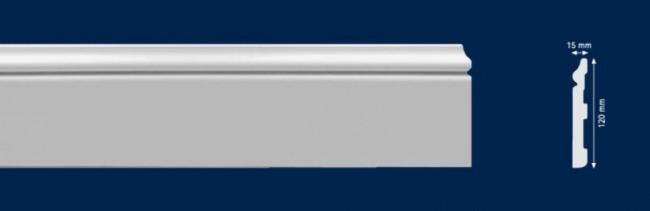 Vysoké biele lišty - Lišta HD polymer