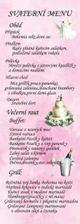 svatební menu přední strana