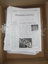 první várka svatebních novin vytisknuta a svázána...ještě jednou tolik :)
