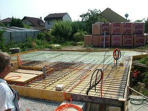 priprava na betonovanie - armatura