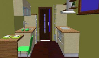 kuchyň celkový pohled, jen barvy budou jiné