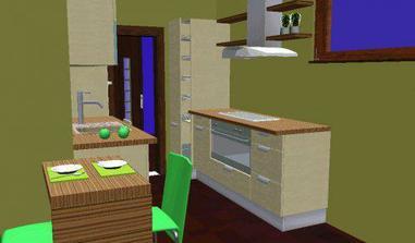 kuchyň pravá strana