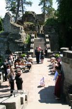 obřad byl na hradních terasách