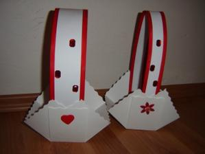 Košíčky pro družičky.