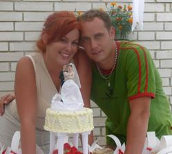 S naším dortíkem.