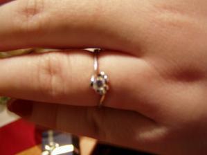 Zásnubní prstýnek jsem dostala na Štědrý den:-)