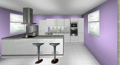 Návrh kuchyne: biela linka s vysokým leskom, sivý kameň na pracovnej doske, sklenná zástena