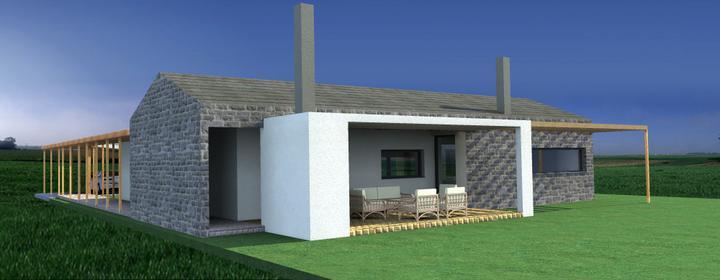 Belža - individuálny projekt - pohľad severovýchodný...severná terasa...v lete oceníme...