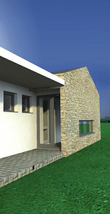Belža - individuálny projekt - vchod z boku...uzatvorený..dá sa prejsť na severnú terasu...