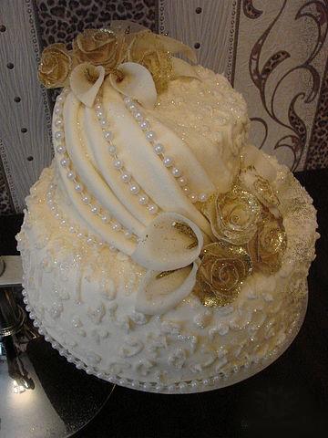 Inspiracie na Nasu Svadbu - krasna torta