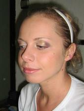 moja skuska makeupu :), budem krasna, ze?:)