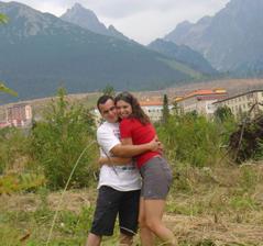 my dvaja v Tatrach