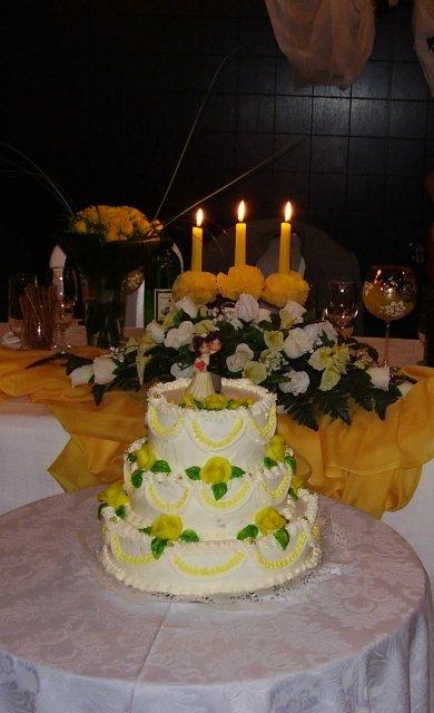 Monika Matejová{{_AND_}}Dušan Gemerský - svadobná torta