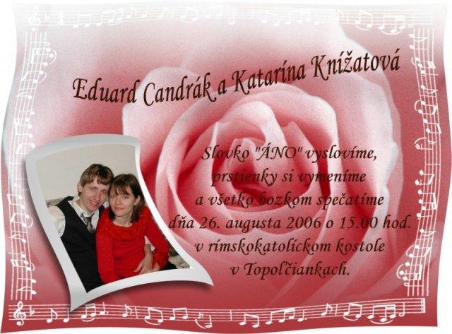 Katka a Edko - posledna verzia oznamka pre hosti