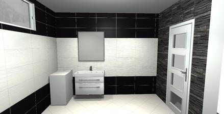 najviac sa mi páči táto verzia čierna hladká a biela v strede vlnkový vzor,vstup a výstupok z WC bude obložený  imitácia považan černy