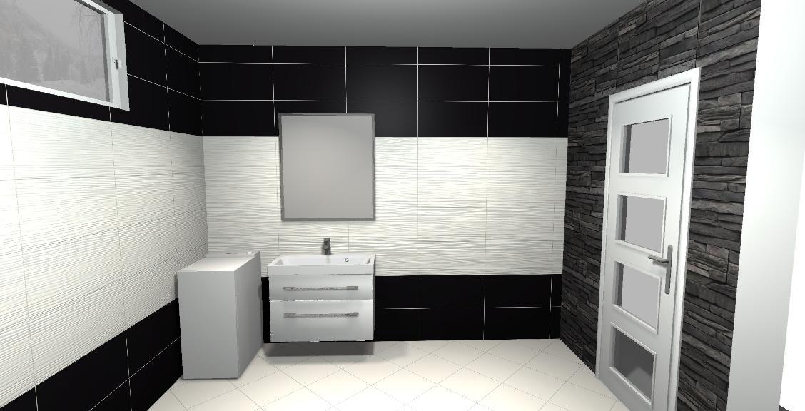 Vivida/vivido-nero /bianco  vizu pre našu spodnú kúpeľňu - najviac sa mi páči táto verzia čierna hladká a biela v strede vlnkový vzor,vstup a výstupok z WC bude obložený  imitácia považan černy