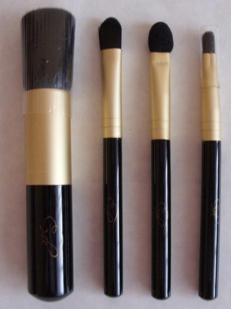 Elegantný set štetcov na líčenie 4 kusy     - Obrázok č. 3