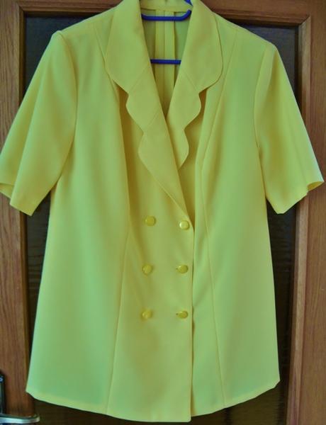 Sukňový kostým žltý     - Obrázok č. 1