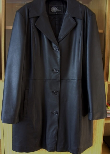 Dámsky kožený kabát  nenosený - Obrázok č. 1