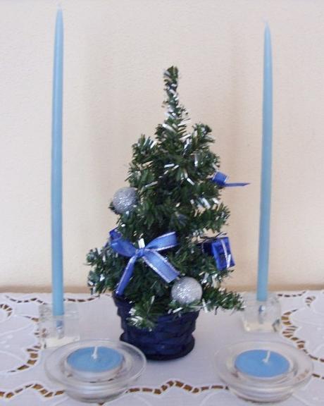 Set vianočný modrý     - Obrázok č. 1