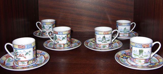 Kávová súprava ručne maľovaná     - Obrázok č. 1