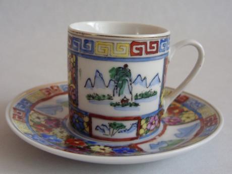 Kávová súprava ručne maľovaná     - Obrázok č. 2