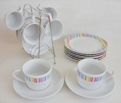Kávová súprava farebná set - Obrázok č. 1