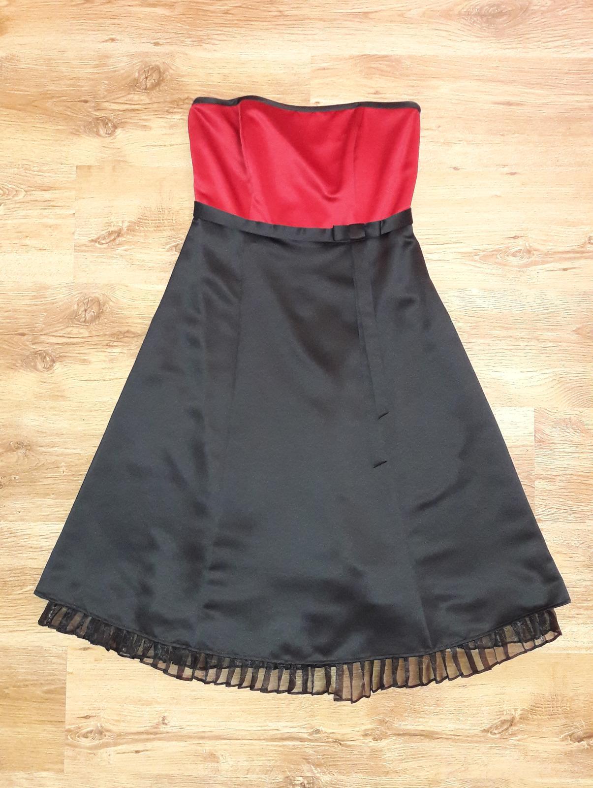 spoločenské šaty bez ramienok - Obrázok č. 1