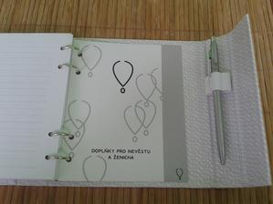 a doplňky pro nevěstu a ženicha, jinak má plno listů na které se dá psát poznámky a je možno je i dokoupit.... :-)