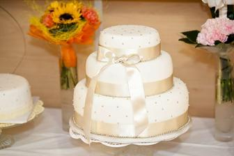 Téma dort jsme rozštípli ;) bude tento s mint a lila stuhou ;) jupíjajou :)