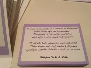 Informace pro svatebčany