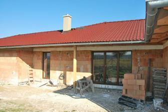 okna z venku - obývák/terasa