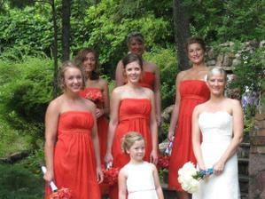takhle krásné družičky budu mít taky (svatba vzdálené sestřenice v USA)