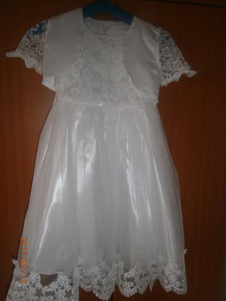 spoločenské dievčenske biele šaty - Obrázok č. 1