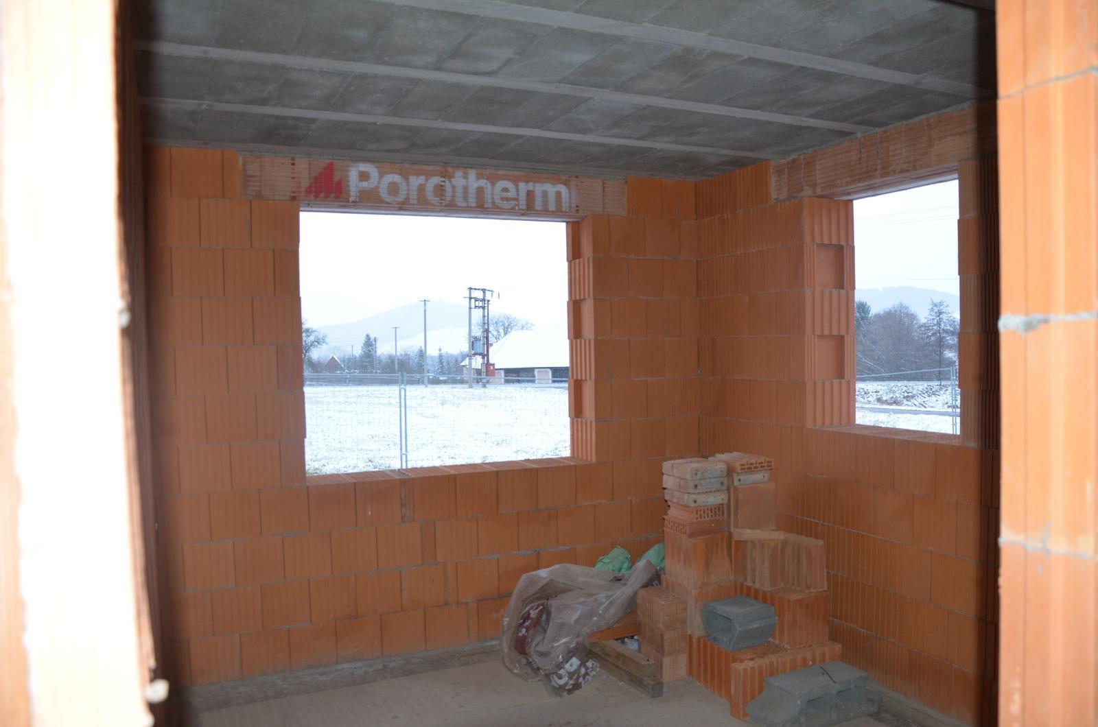 Náš budúci domov - Detská izba č. 1 - pravé okno je dorábané a neskôr vyrovnané do jednej úrovne z druhým 25.1.2015