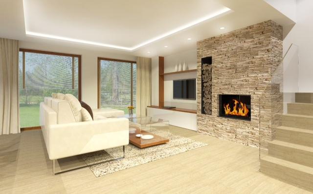 Náš budúci domov - Vizualizácia obývačka