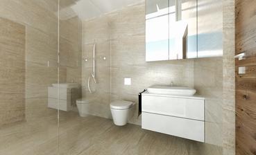 Vizualizácia podkrovie kúpelňa