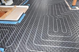 podlahové kúrenie podkrovie