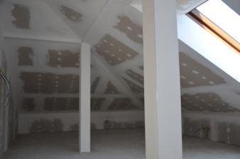 Podkrovie zateplenie strechy + sádrokartón  - hosťovská