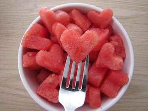 Melounové srdíčka