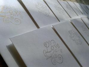 Obálky svatebního oznámení - razítka z ali